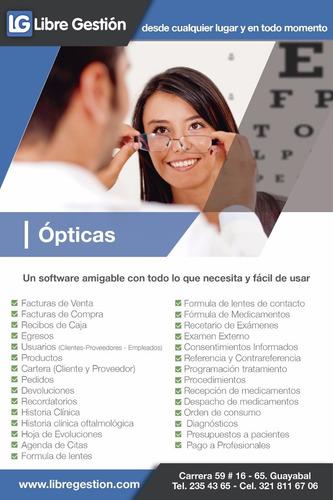 software para la gestión de ópticas-prueba gratis el demo