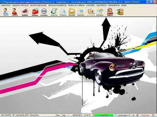 software para lanternagem, funilaria pintura e chapeação 1.0