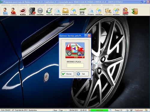 software para loja de rodas, pneus borracharia 1.0 fpqsystem