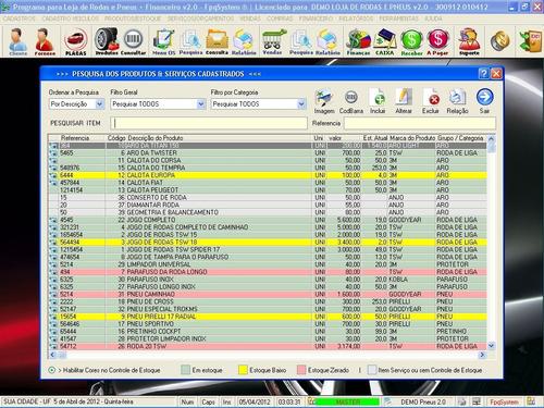 software para loja de rodas pneus e financeiro 2.0 fpqsystem