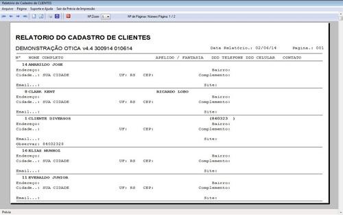 software para ótica e relojoalheria vendas + financeiro v4.4