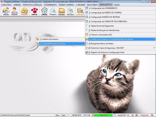 software para petshop atendimento, produtos e serviços v1.0