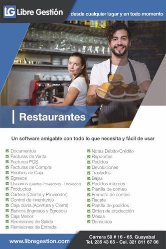 software para restaurante,comandas,estado pedido,toma pedido