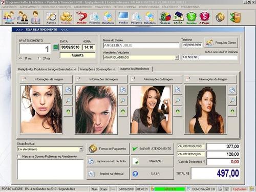 software para salão de beleza, agendamento + financeiro v3.0