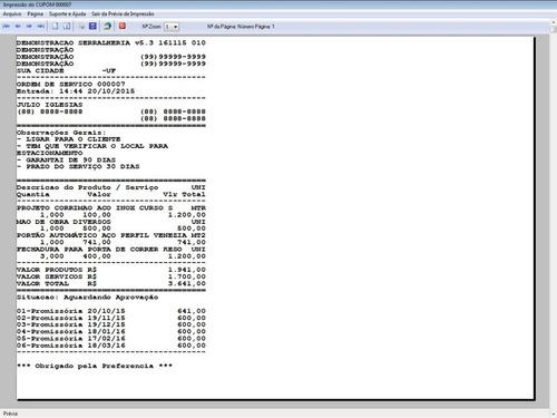 software para serralheria com vendas e financeiro 5.3 plus
