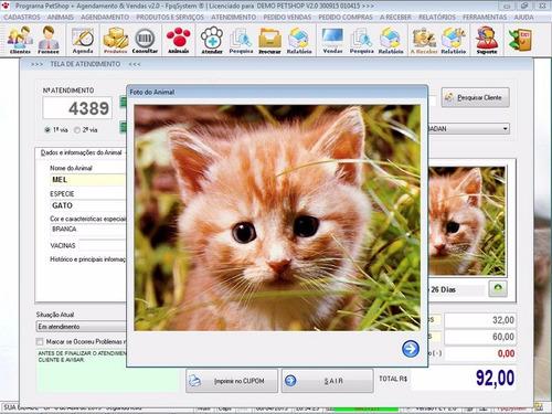 software petshop + atendimento + agendamento + serviços v2.0