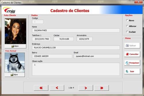 software petshop + clinica veterinária + hotel completo