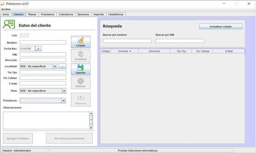 software préstamos - programa gestión - financieras