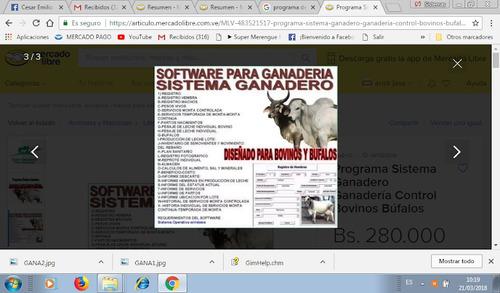 software programa para ganaderia. aa