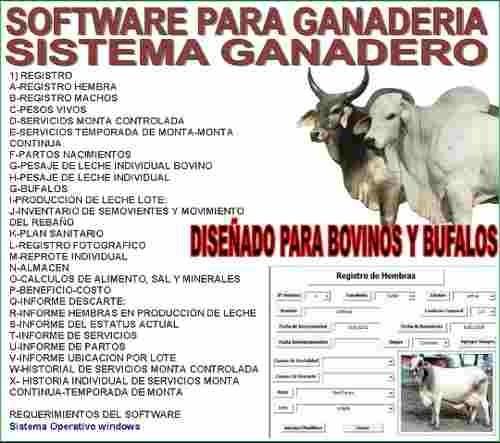 software programa para ganaderia. x