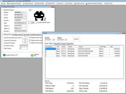 software programa pos facturacion compras inventario cxc cxp