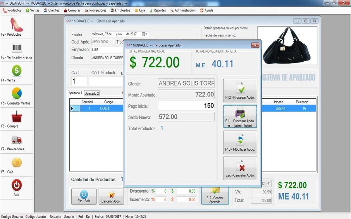 Software Punto De Venta P  Boutiques Y Zapaterías Nuevo -   1 bd07dc2f4293