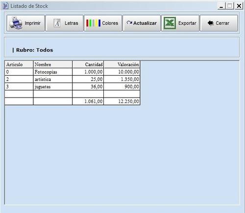 software punto de venta stock caja stock gestión control