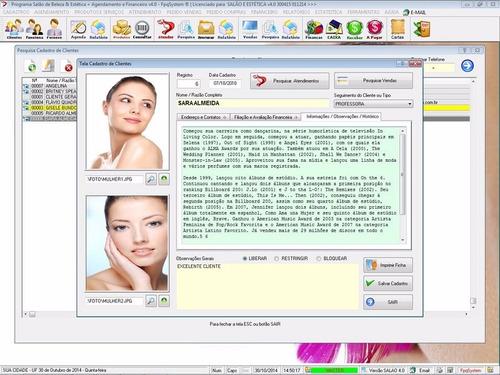 software salão de beleza agendamento com financeiro 4.0 plus