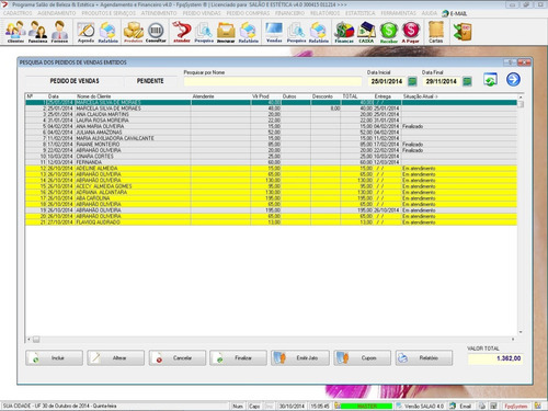 software salão de beleza agendamento financeiro v4 fpqsystem