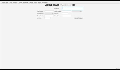 software sistema para ventas reportes inventarios