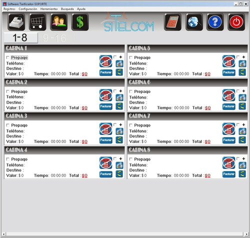 software tarificador x2 cabinas telefónicas visores programa
