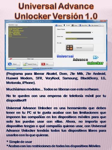 software teléfono celulares + modems  pack 20 programas tsa