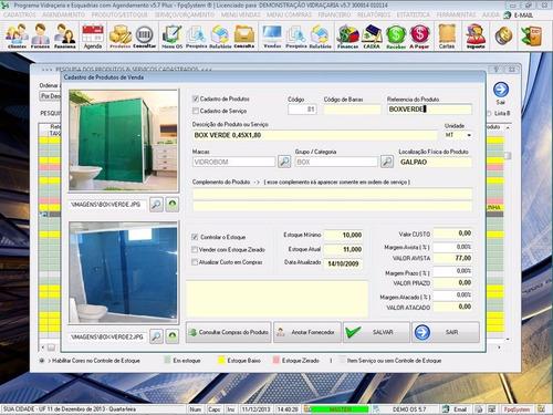 software vidraçaria e esquadria e serviço 5.7 plus fpqsystem