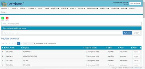 software web erp softdatos, planes desde 90 soles al mes