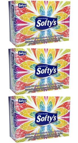 softys lenço de papel c/100 (kit c/03)