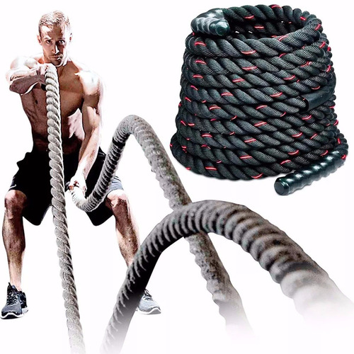 soga cuerda battle rope crossfit funcional 12 metros x 38 mm