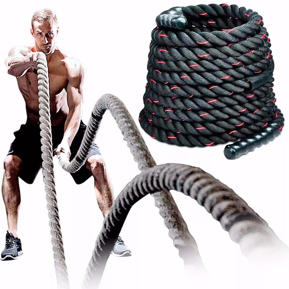 Soga Cuerda Battle Rope Crossfit Funcional 40mm X 9m El Rey