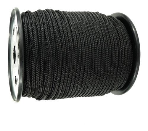 soga cuerda negra 4.mm trenzada camping multiuso cabo negro