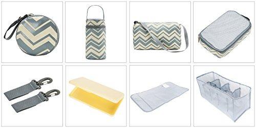 soho bolso de panales louvre 9 piezas bolso de viaje del pan