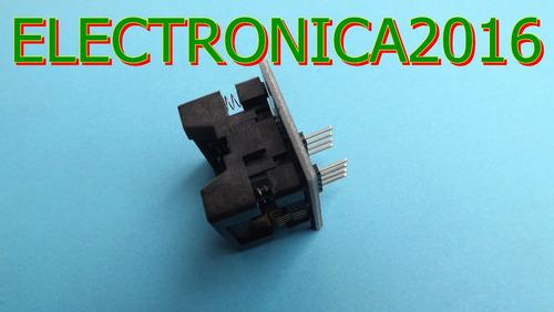 soic8 sop8 to dip8 ez programador adaptador socket 200mil