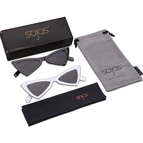 be56bfa2bd Sojos Gafas De Sol Pequeñas Cateye Para Mujer Hombre Gafas ...