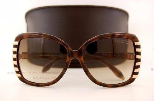 sol cavalli óculos · óculos feminino sol roberto cavalli marrom 659s 52f  original c7ec42595e
