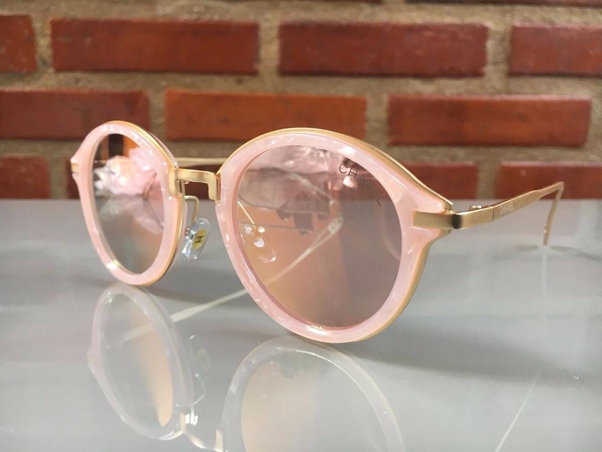 Carregando zoom... oculos de sol feminino chanel original redondo frete  grátis 149137ee71