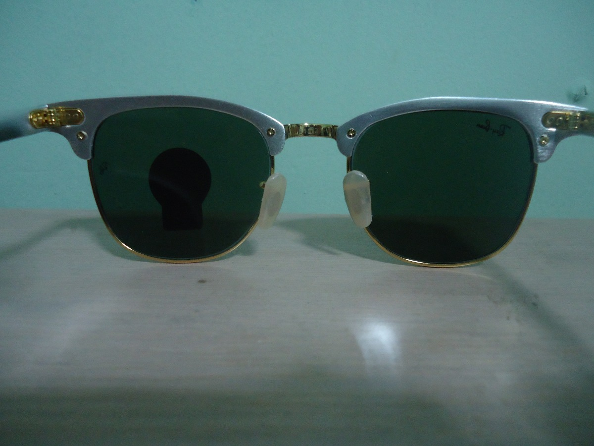 3ef249a53a9af Óculos De Sol Clubmaster 3507 Aluminium Prata Verde - R  179,99 em ...