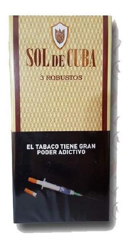 sol de cuba robustos caja x3 cigarros puros cigarro robusto