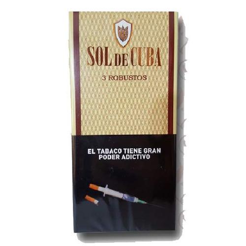 sol de cuba x3  robustos caja cigarros puros cigarro robusto