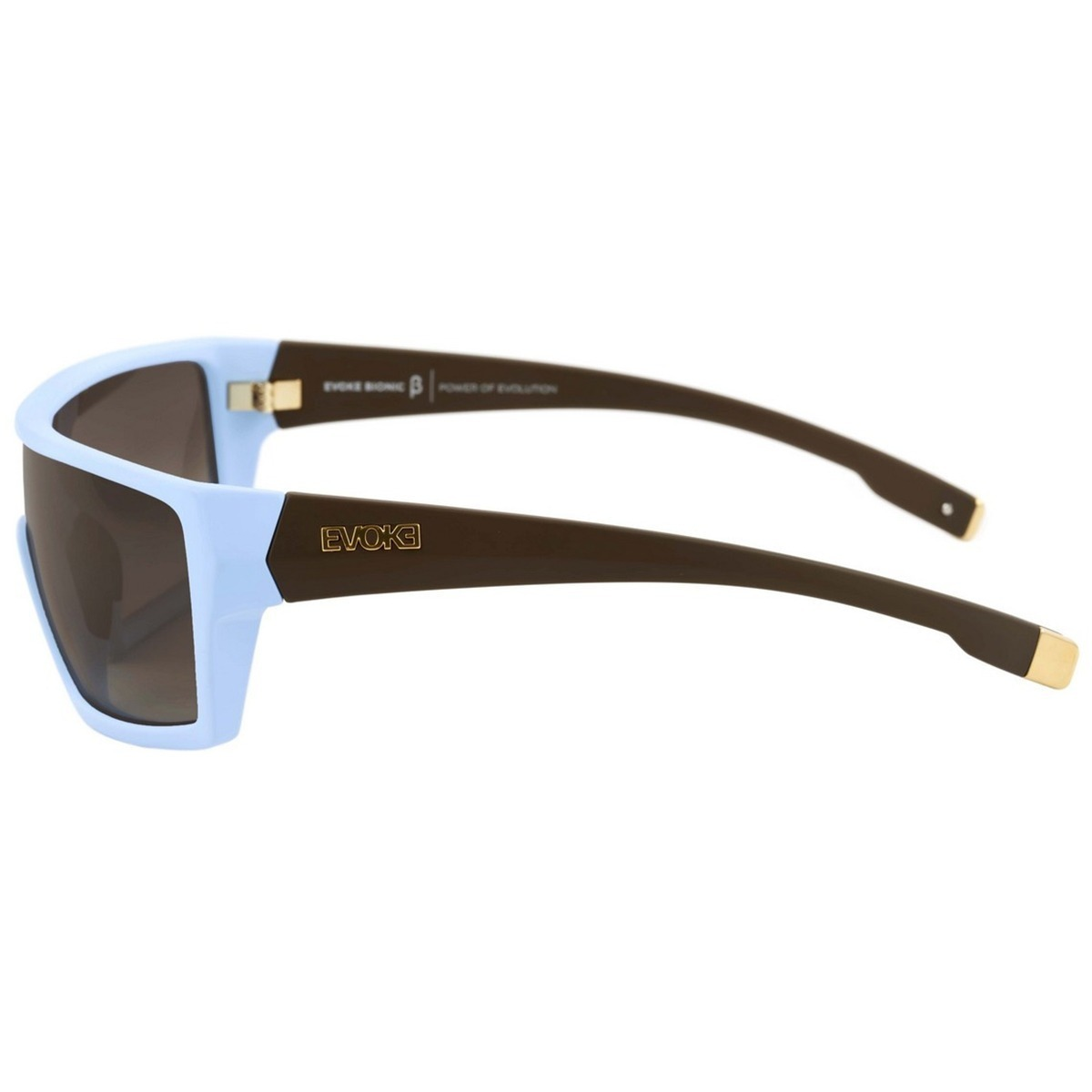 01d431bddfecb Oculos Sol Evoke Bionic Beta Azul Temple Marrom Gold Degrade - R ...