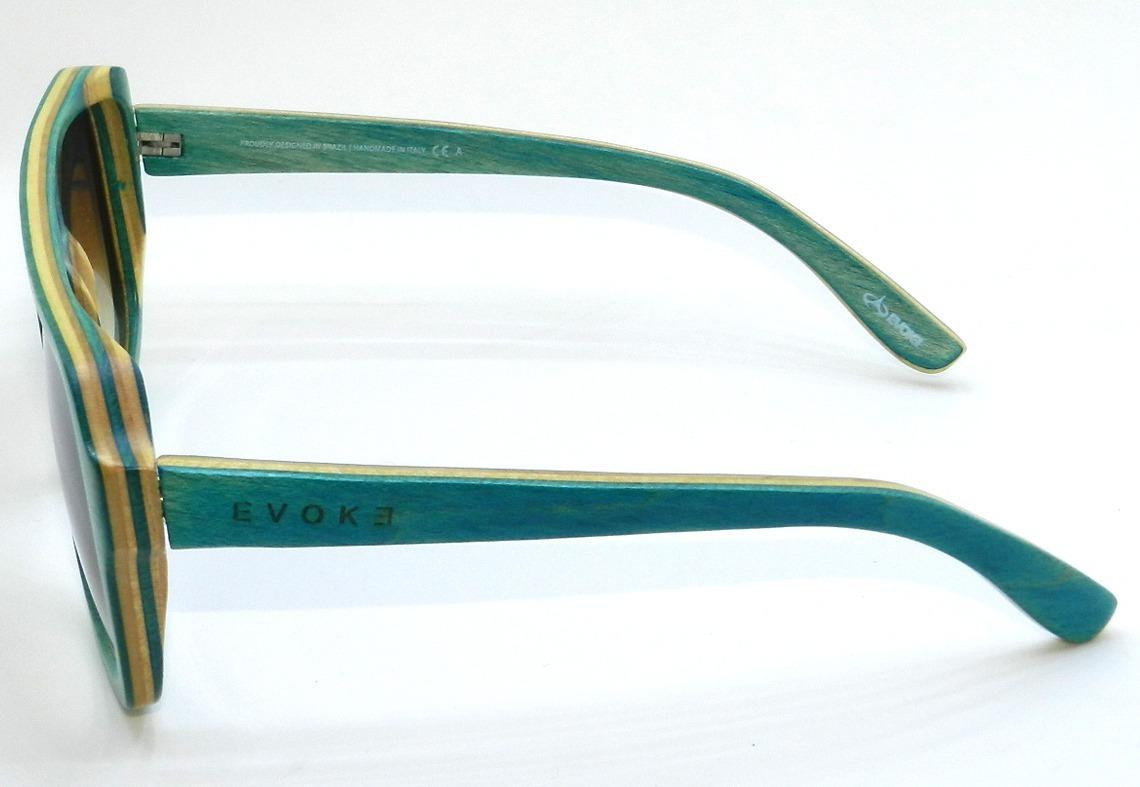 f1885ef6fc779 Carregando zoom... oculos de sol evoke wood series 01 maple collection green