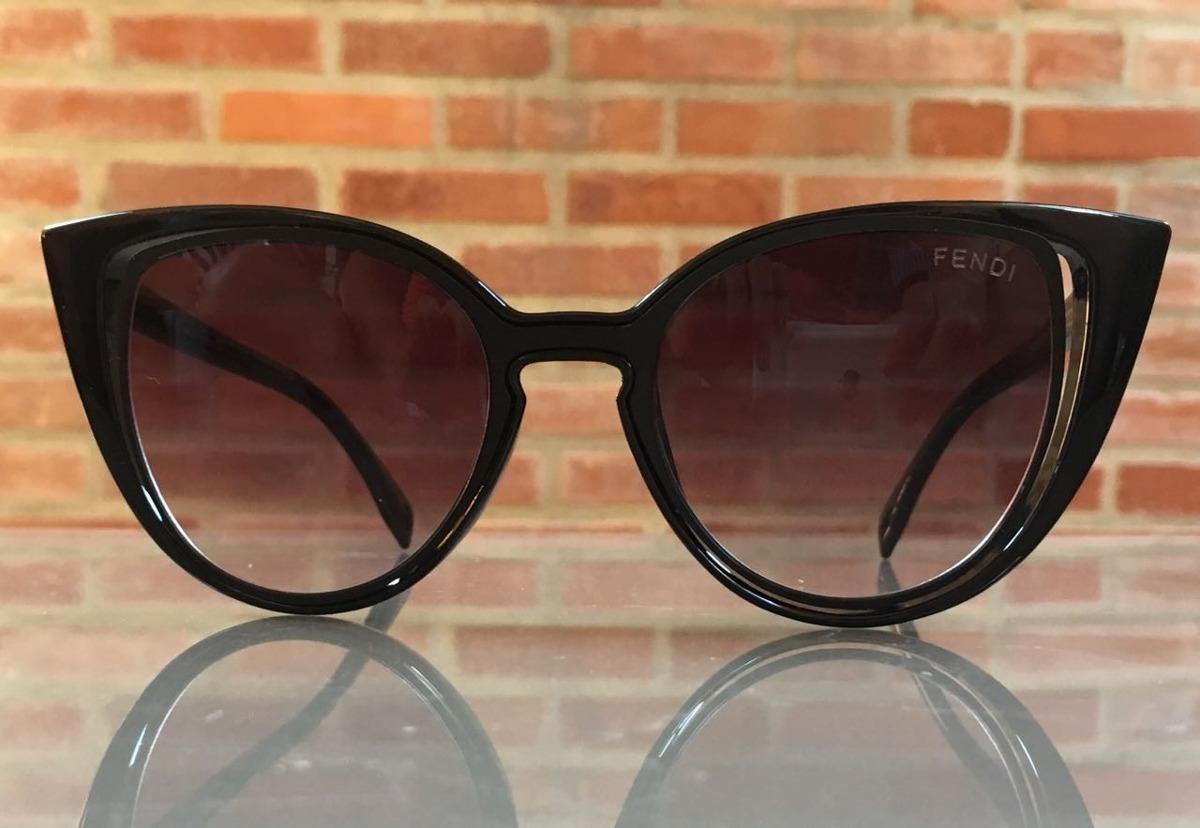 6ba56db02ef8b Carregando zoom... oculos de sol feminino fendi original gatinho frete grat