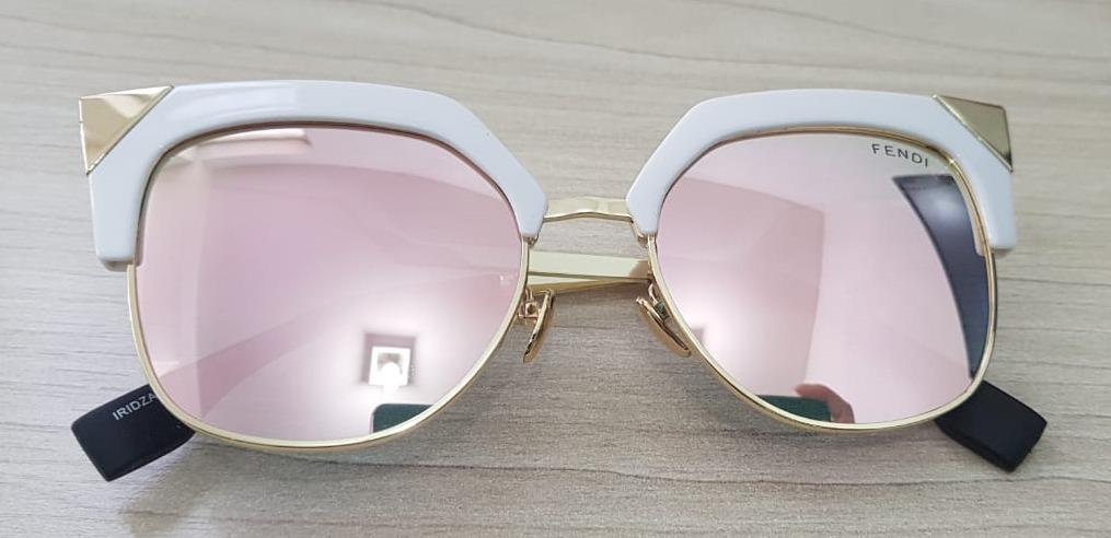 729102e9234d7 Óculos De Sol Fendi Iridia Square Cat Estilo Gatinho - R  80