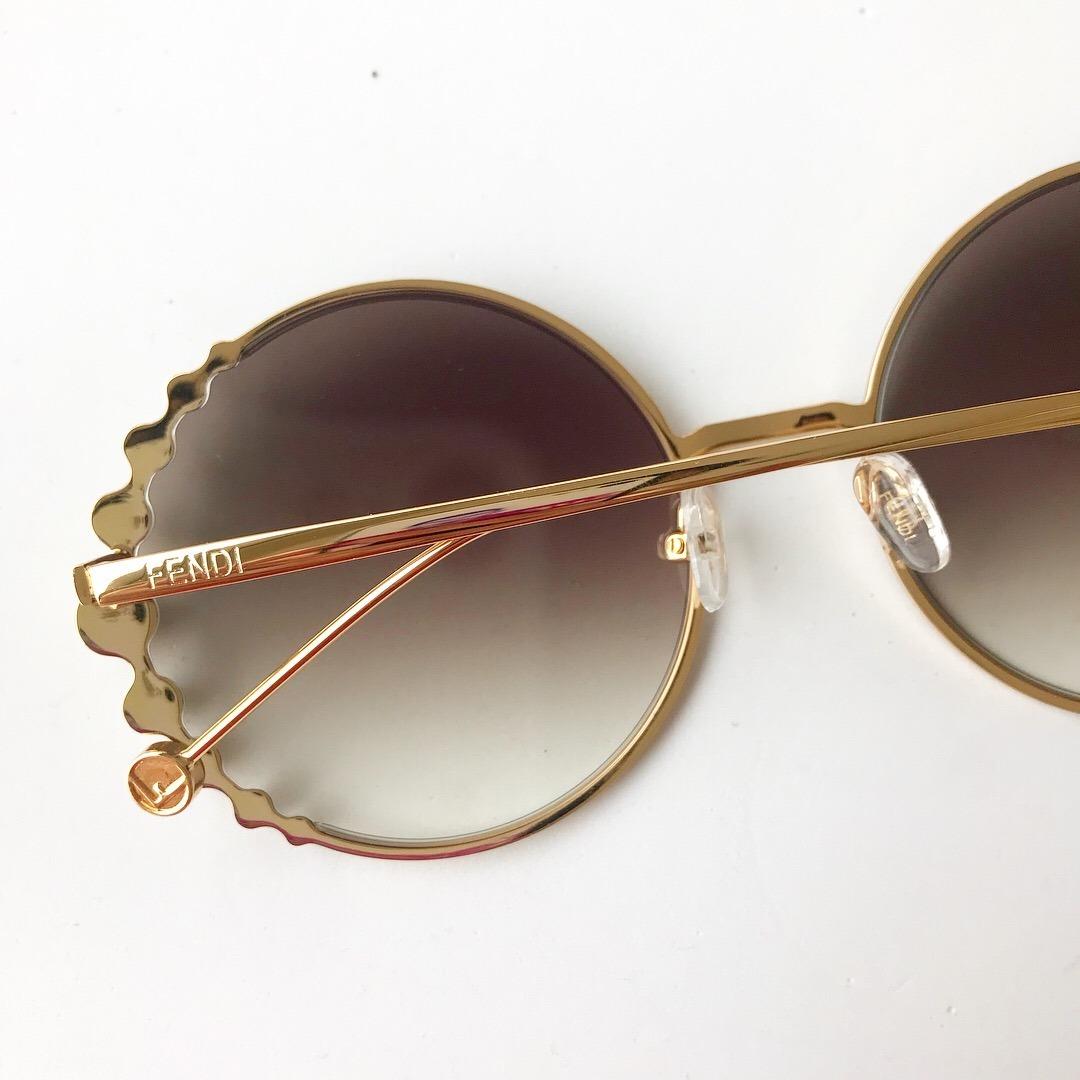 0c18f8343f7d2 Carregando zoom... óculos de sol fendi pearls feminino pérola redondo round