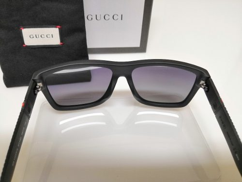 777caf5d15174 Óculos De Sol Gucci Original Gg1124 f s Acetato Preto - R  950,00 em Mercado  Livre
