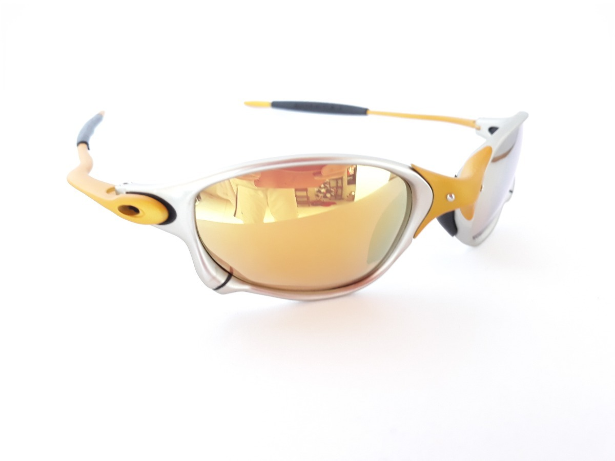 d7e236274c19d Carregando zoom... óculos de sol juliet x metal double x 24k dourada gold  penny