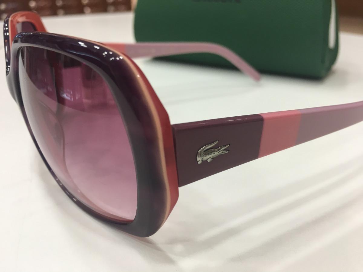 5aec486cdde2f Óculos De Sol Lacoste   L629s 218 135 Roxo E Rosa - R  459,99 em Mercado  Livre