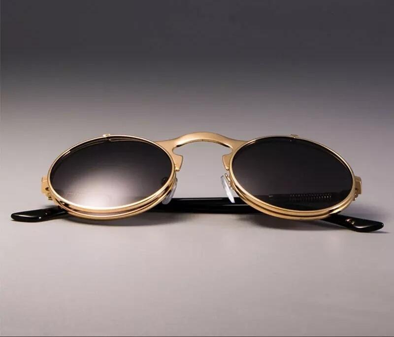63bcb90d4 Cargando zoom... lentes de sol vintage doble luna o lente redondos uv400