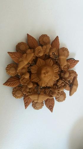 sol miniaturas artesanías de barro hecha en metepec