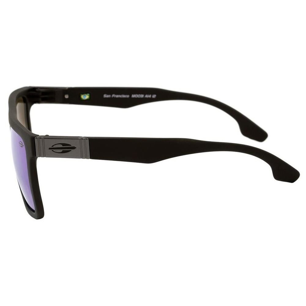 Oculos Sol Espelhado Mormaii San Francisco Preto Fosco Uv - R  169 ... d690170074