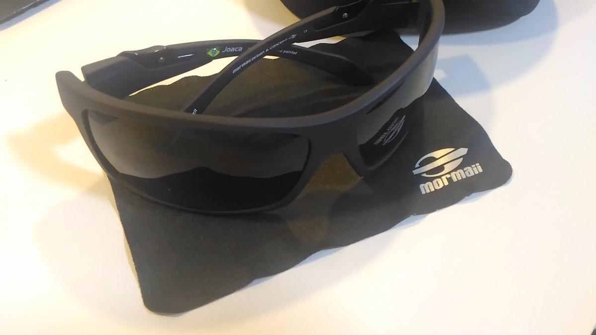 593a82cfcf254 Óculos De Sol Mormaii Joaca Preto Fosco + Estojo - R  200