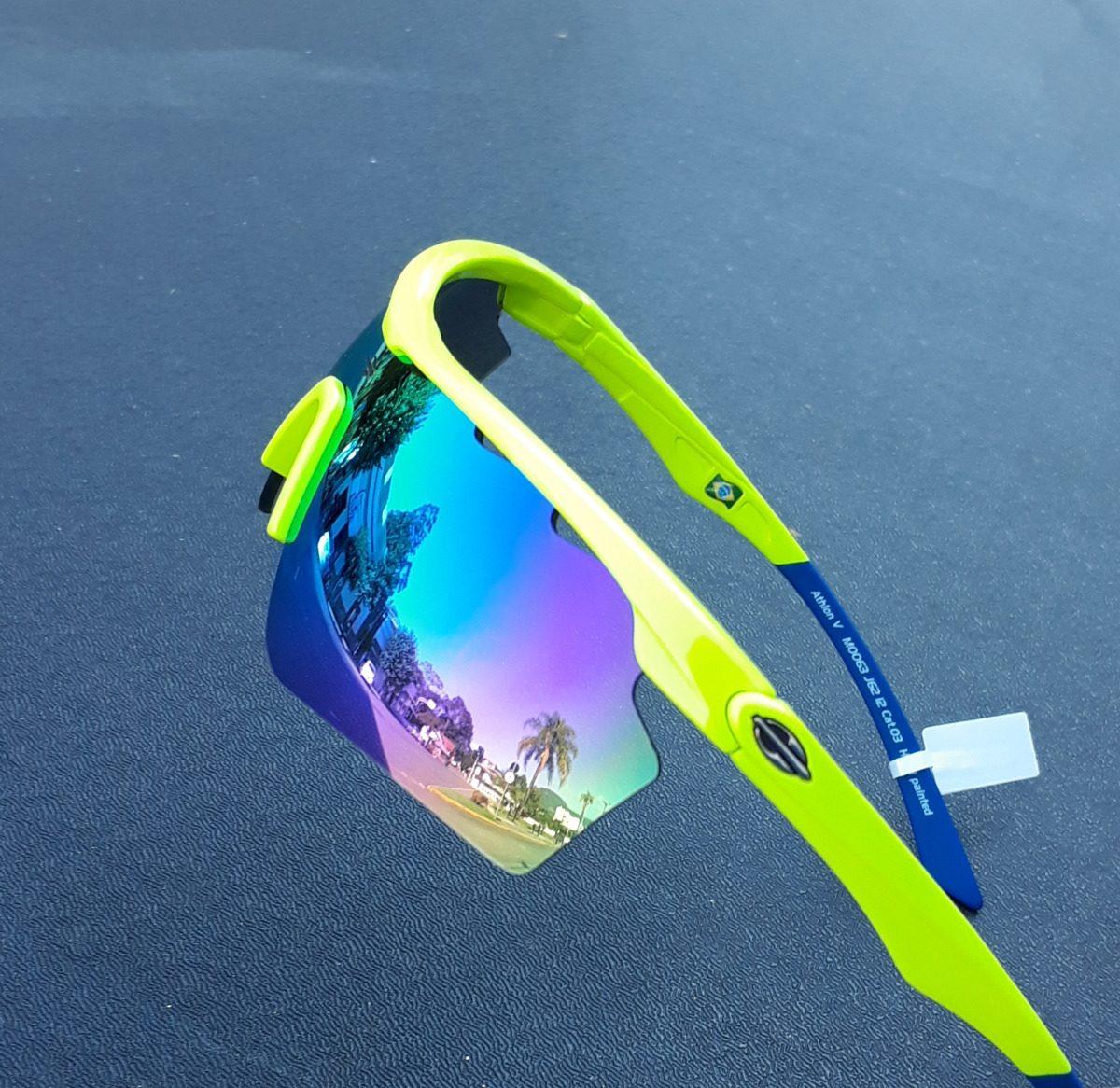 ad62fb5f3b576 Carregando zoom... óculos sol solar mormaii athlon 5 amarelo azul ciclismo  v 4