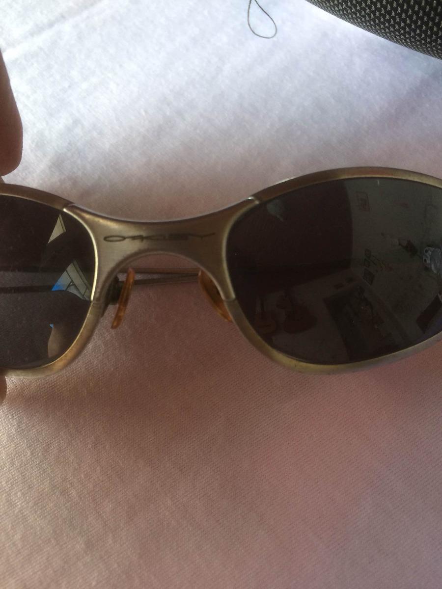 0016fb0232b0c Óculos Sol Oakley Titanium Antigo Com + 2 Par Lente Raridade - R ...